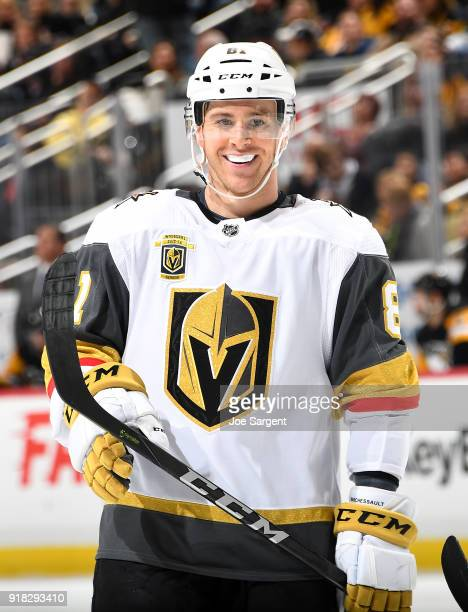 Jonathan Marchessault of the Vegas Golden Knights skates against the Pittsburgh Penguins at PPG Paints Arena on February 6 2018 in Pittsburgh...