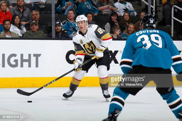 Jonathan Marchessault of the Vegas Golden Knights skates against the San Jose Sharks at SAP Center on February 8 2018 in San Jose California