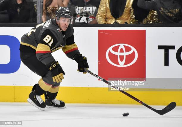 Jonathan Marchessault of the Vegas Golden Knights skates during the third period against the San Jose Sharks in Game Six of the Western Conference...