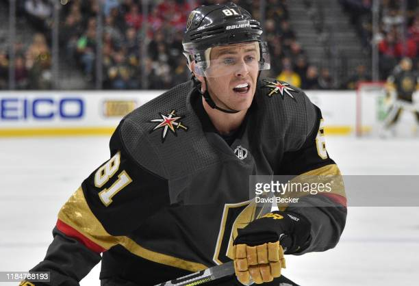 Jonathan Marchessault of the Vegas Golden Knights skates during the third period against the Montreal Canadiens at TMobile Arena on October 31 2019...