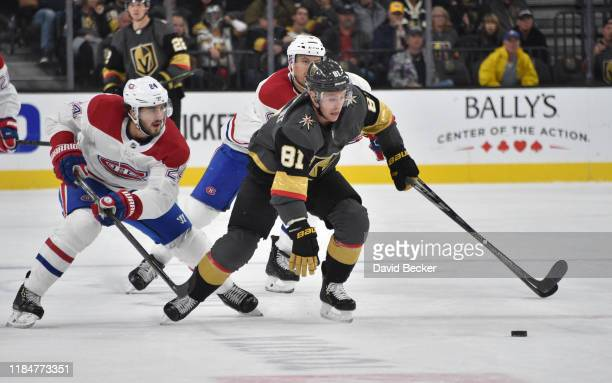Jonathan Marchessault of the Vegas Golden Knights skates during the third period against the Montreal Canadiens at T-Mobile Arena on October 31, 2019...