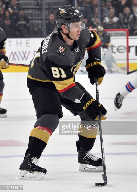 Jonathan Marchessault of the Vegas Golden Knights skates during the first period against the New York Rangers at TMobile Arena on December 08 2019 in...