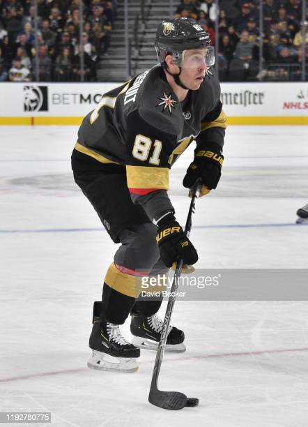 Jonathan Marchessault of the Vegas Golden Knights skates during the third period against the New York Rangers at TMobile Arena on December 08 2019 in...