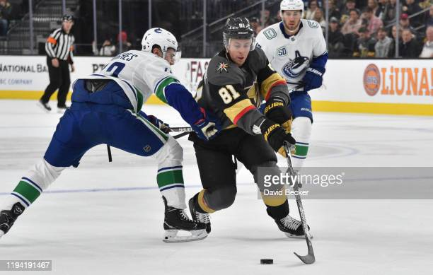 Jonathan Marchessault of the Vegas Golden Knights skates during the first period against the Vancouver Canucks at TMobile Arena on December 15 2019...