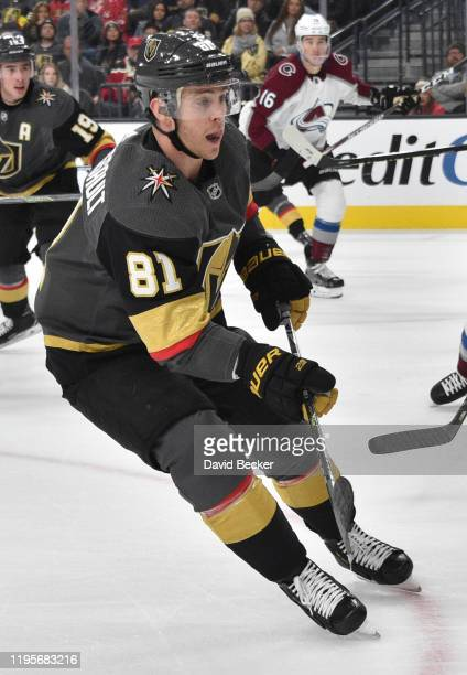 Jonathan Marchessault of the Vegas Golden Knights skates during the first period against the Colorado Avalanche at TMobile Arena on December 23 2019...