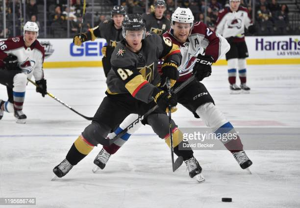 Jonathan Marchessault of the Vegas Golden Knights skates during the second period against the Colorado Avalanche at TMobile Arena on December 23 2019...