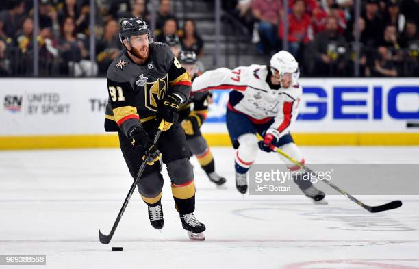Jonathan Marchessault of the Vegas Golden Knights skates during the first period against the Washington Capitals in Game Five of the Stanley Cup...
