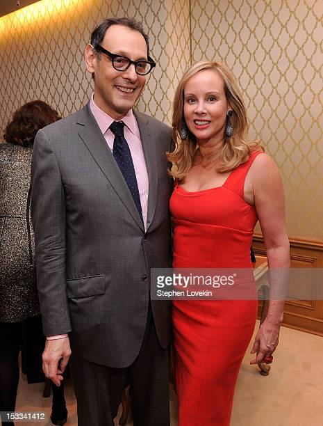 Jonathan Marder and Yaz Hernandez attend a cocktail reception for Tracy Paul And Company Presenting Buccellati's Pendant Earring Collection With The...