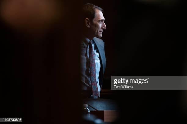 Jonathan Margolis deputy assistant secretary for Science Space and Health arrives to a senators briefing on the coronavirus at the Senate Health...