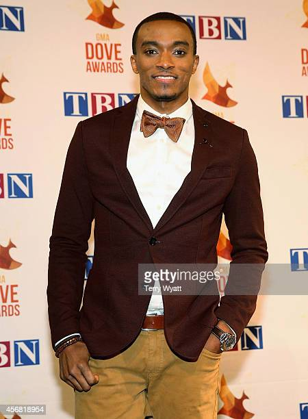 Jonathan McReynolds backstage at the 45th Annual GMA Dove Awards at Allen Arena, Lipscomb University on October 7, 2014 in Nashville, Tennessee.