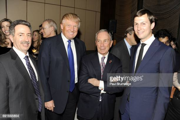 Jonathan Mechanic Donald Trump Mayor Michael Bloomberg and Jared Kushner attend The New York Observer 25th Anniversary at Four Seasons Restaurant on...