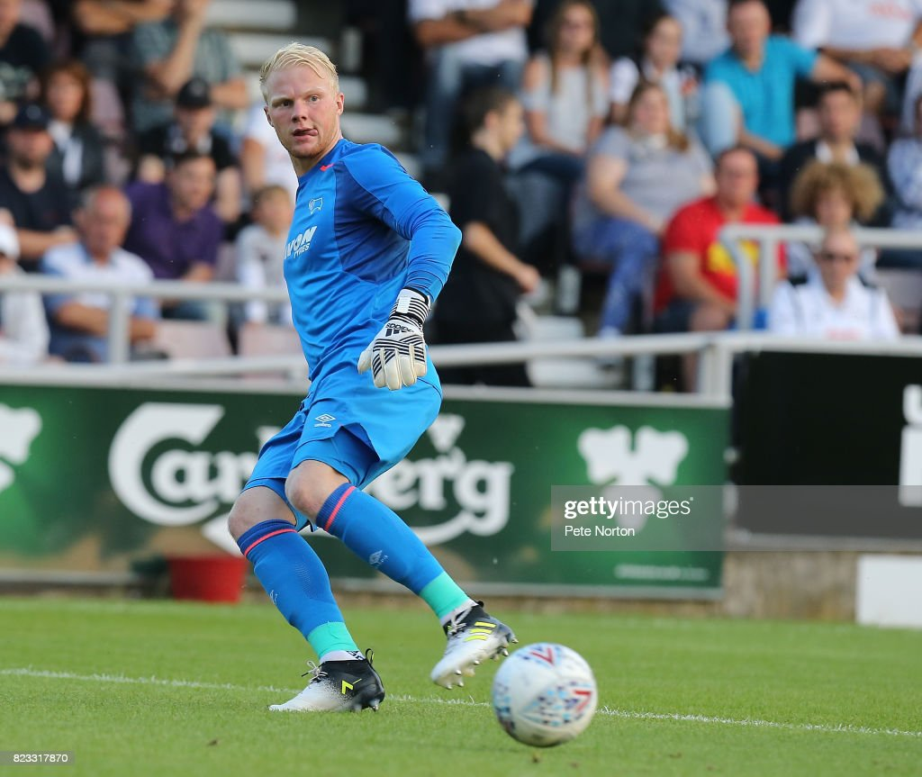 Jonathan Mitchell of Derby County in action during the Pre-Season Friendly match between Northampton Town and Derby County at Sixfields on July 25, 2017 in Northampton, England.