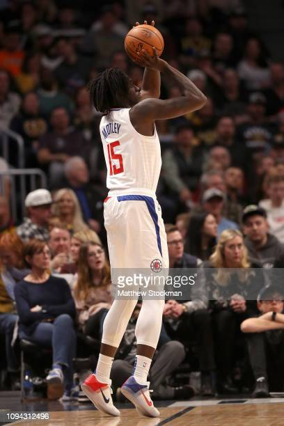 Jonathan Motley of the Los Angeles Clippers puts up a shot against the Denver Nuggets at the Pepsi Center on January 10 2019 in Denver Colorado NOTE...