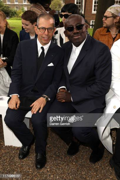 Jonathan Newhouse and Edward Enninful attend the Erdem show during London Fashion Week September 2019 on September 16 2019 in London England