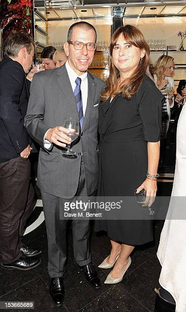 Jonathan Newhouse and Vogue UK editor Alexandra Shulman attend the launch of 'Vogue On Designers' at Le Caprice on October 8 2012 in London England