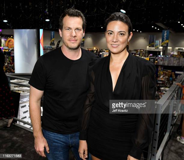 "Jonathan Nolan and Lisa Joy at ""Westworld"" Comic Con Autograph Signing 2019 on July 20 2019 in San Diego California"