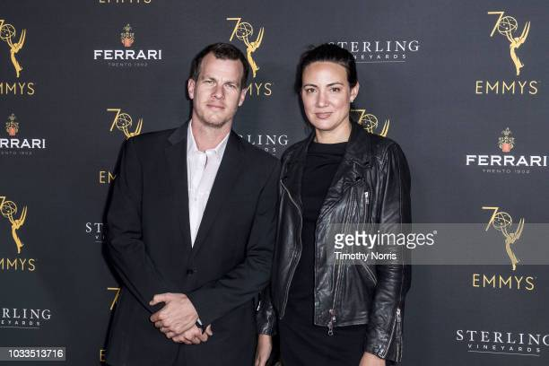 Jonathan Nolan and Lisa Joy attend Television Academy Honors Emmy Nominated Producers at Montage Beverly Hills on September 14 2018 in Beverly Hills...