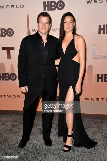 Jonathan Nolan and Lisa Joy attend the Premiere of HBO's Westworld Season 3 at TCL Chinese Theatre on March 05 2020 in Hollywood California