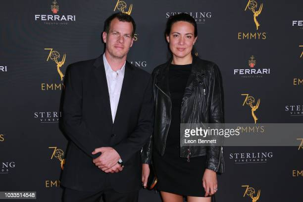 Jonathan Nolan and Lisa Joy attend the Television Academy Honors Emmy Nominated Producers at Montage Beverly Hills on September 14 2018 in Beverly...