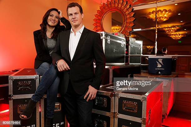 Jonathan Nolan and Lisa Joy of 'Westward' are photographed for Los Angeles Times on July 30 2016 in Los Angeles California PUBLISHED IMAGE CREDIT...