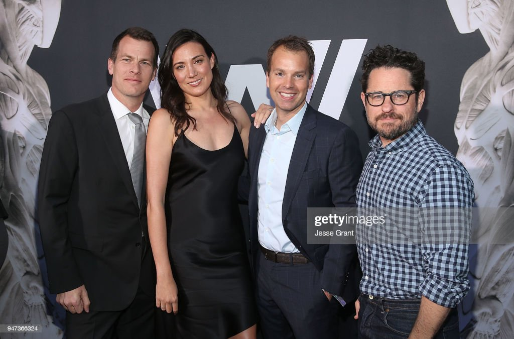 Jonathan Nolan, Lisa Joy, Casey Bloys and J.J. Abrams attend the Premiere of HBO's 'Westworld' Season 2 at The Cinerama Dome on April 16, 2018 in Los Angeles, California.