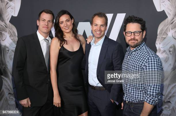 Jonathan Nolan Lisa Joy Casey Bloys and JJ Abrams attend the Premiere of HBO's Westworld Season 2 at The Cinerama Dome on April 16 2018 in Los...