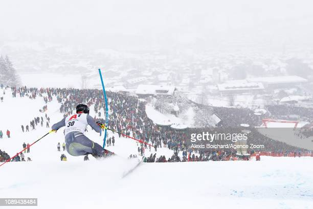 Jonathan Nordbotten of Norway competes during the Audi FIS Alpine Ski World Cup Men's Slalom on January 26 2019 in Kitzbuehel Austria