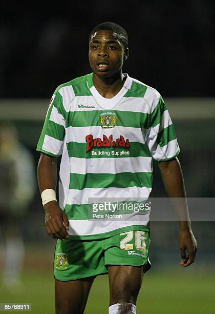 Jonathan Obika of Yeovil Town in action during the Coca Cola League One Match between Yeovil Town and Northampton Town at Huish Park on March 31 2009...