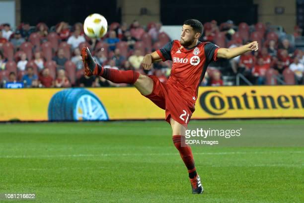 BMO FIELD TORONTO ONTARIO CANADA Jonathan Osorio during 2018 MLS Regular Season match between Toronto FC and LA Galaxy at BMO Field