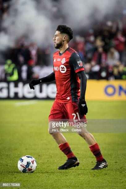 Jonathan Osorio of Toronto FC during the 2017 Audi MLS Championship Cup match between Toronto FC and Seattle Sounders FC at BMO Field on December 09...