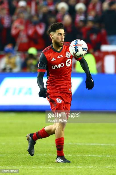 Jonathan Osorio of Toronto FC juggles the ball during the 2017 MLS Cup Final against the Seattle Sounders at BMO Field on December 9 2017 in Toronto...