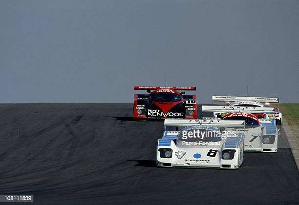 Jonathan Palmer drives the Joest Porsche Racing Porsche 962C during the FIA World Sportscar Championship Shell Donington Trophy race on 2nd September...