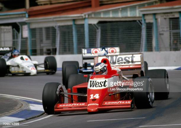 Jonathan Palmer of Great Britain enroute to placing ninth, driving a Zakspeed 861 with a Zakspeed Straight-4 engine for the West Zakspeed Racing...