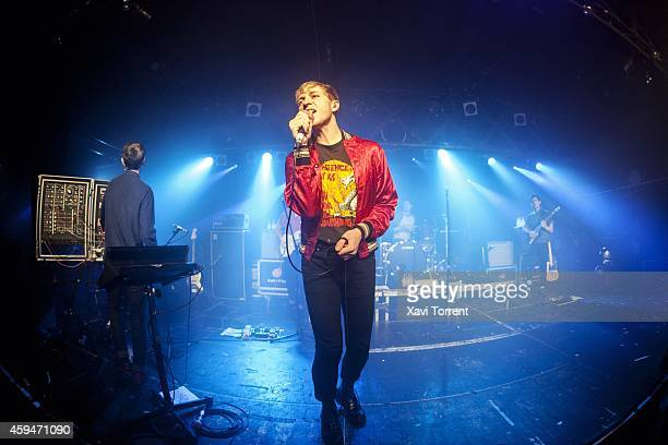 Jonathan Pierce of The Drums performs in concert at Sala Razzmatazz on November 23, 2014 in Barcelona, Spain.