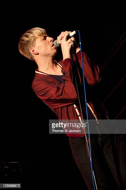 Jonathan Pierce of The Drums performs on stage during Split Festival at Ashbrooke Sports Club on September 17, 2011 in Sunderland, United Kingdom.