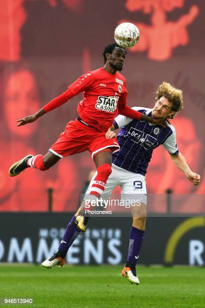 Jonathan Pitroipa forward of Antwerp FC Arjan Swinkels of Beerschot Wilrijk during the Jupiler Pro League play off 2 match between Royal Antwerp FC...