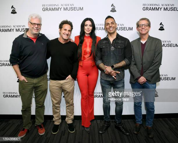 Jonathan Platt, Gary Spivack, Dorothy, Jose Mangin and Jonathan McHugh attend Reel To Reel: Long Live Rock…Celebrating The Chaos at the GRAMMY Museum...