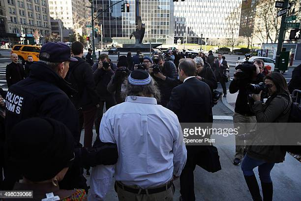 Jonathan Pollard, the American convicted of spying for Israel, leaves a New York court house following his release from prison early on Friday after...