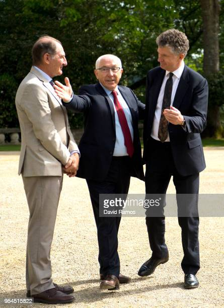 Jonathan Powell former Downing Street Chief of Staff and chief British negotiator on Northern Ireland poses next to Brian Currin member of the...