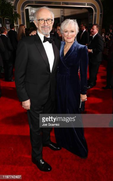 Jonathan Pryce and Glenn Close attend the 77th Annual Golden Globe Awards at The Beverly Hilton Hotel on January 05 2020 in Beverly Hills California