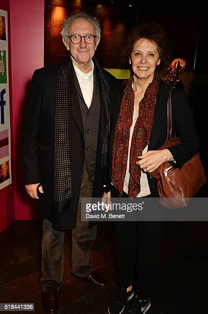 Jonathan Pryce and Kate Fahy attend the press night after party of How The Other Half Loves at Mint Leaf on March 31 2016 in London England