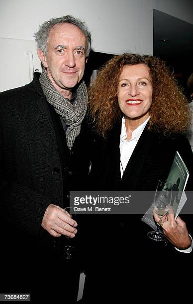Jonathan Pryce and Nicole Farhi attend the a fundraiser party for the Almeida Theatre at the Almeida Theatre on March 23 2007 in London England