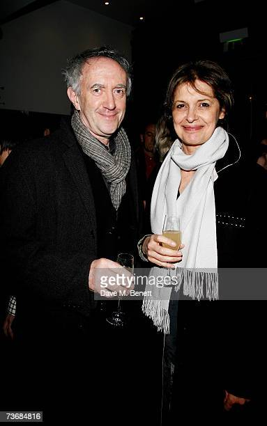 Jonathan Pryce and wife Kate Fahy attend the a fundraiser party for the Almeida Theatre at the Almeida Theatre on March 23 2007 in London England