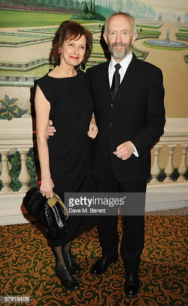 Jonathan Pryce and wife Kate Fahy attend The Laurence Olivier Awards at the Grosvenor House Hotel on March 21 2010 in London England