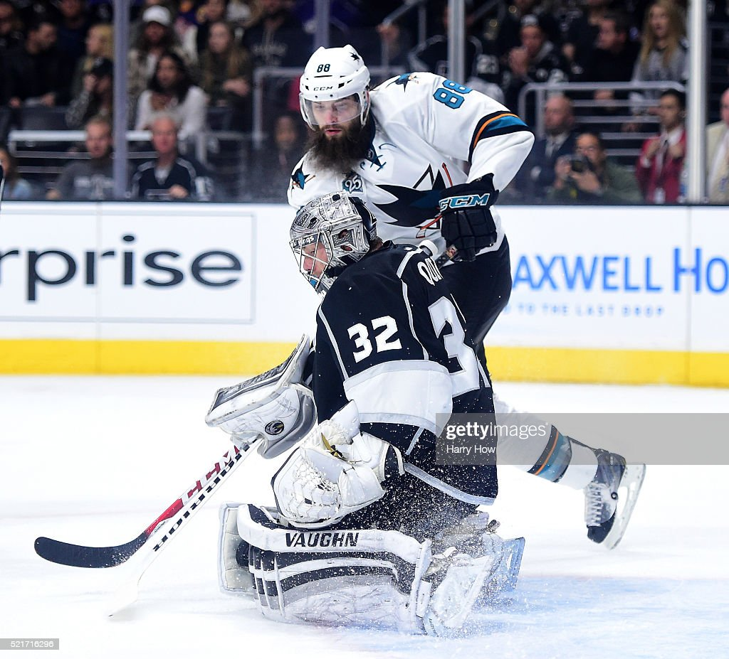San Jose Sharks v Los Angeles Kings - Game Two : News Photo