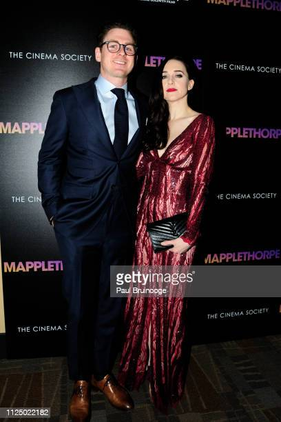 Jonathan R Stein and Lena Hall attend Samuel Goldwyn Films With The Cinema Society Host A Special Screening Of Mapplethorpe at Cinepolis Chelsea on...