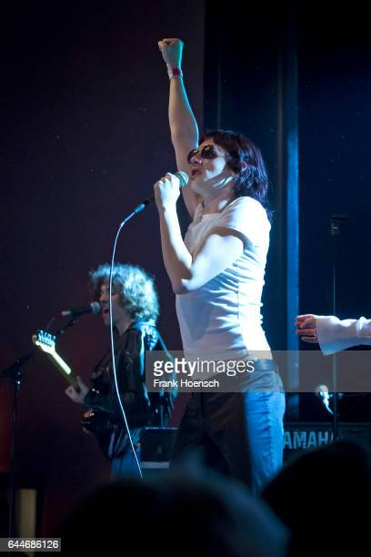 Jonathan Rado and Sam France of the American band Foxygen perform live during a concert at the Columbia Theater on February 23, 2017 in Berlin,...
