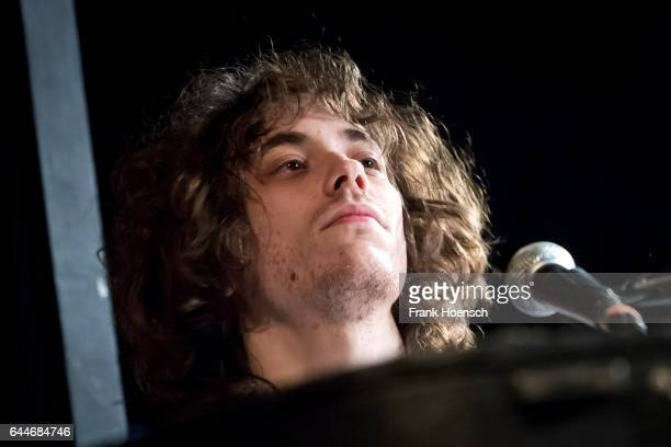 Jonathan Rado of the American band Foxygen performs live during a concert at the Columbia Theater on February 23, 2017 in Berlin, Germany.