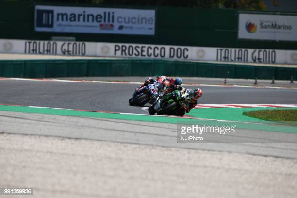 1 Jonathan Rea GBR Kawasaki ZX10RR Kawasaki Racing Team WorldSBK during the Motul FIM Superbike Championship Italian Round Sunday race during the...