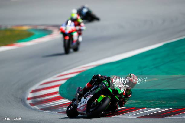 Jonathan Rea of Great Britain and Kawasaki Racing Team in action during the day one of the World Superbike testing at Circuit de Barcelona-Catalunya...
